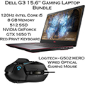 """Dell G3 15.6""""Gaming Laptop w/ Intel Core i5 Paired w/Logitech-G502 Hero Wired Optical Gaming Mouse"""