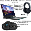 """Dell G7 17.3"""" Gaming Laptop-300Hz w/Intel Core i7, Wired Gaming Headset and Wired Optical Mouse"""