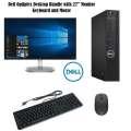 "Dell Optiplex Intel i5 7th Generation Desktop Bundle w/Dell 27"" LED Monitor, Keyboard & Mouse"
