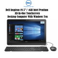 "Dell Inspiron 19.5""/ 4GB Intel Pentium All-In-One Touchscreen Desktop Computer With Windows Ten"