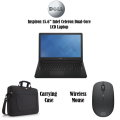 "Dell Inspiron 15.6"" INTEL Celeron 4GB Memory Laptop, Includes Wireless Mouse & Carrying Case"