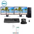 "Dell Desktop PC Bundle Dual (2) 24"" LCD Displays, Keyboard, Mouse & MS Home & Business"