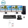"""Dell Desktop PC Bundle Dual (2) 24"""" LCD Displays, Keyboard, Mouse & MS Home & Student"""