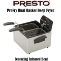 Presto ProFry Dual Basket Deep Fryer Feat. 12-Cup Food Capacity-Available In Stainless Steel/Black