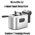 Breville 4-Quart Smart Deep Fryer FeaturinG 7 Cooking Presets- Available In Stainless Steel Finish