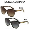 Dolce & Gabbana DNA Gold Leaf Women's Sunglasses - Available In Black Or Brown