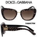 Dolce & Gabbana Women's Butterfly Acetate Frame Sunglasses - Available In Leopard Print