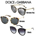 Dolce & Gabbana DNA Cube Women's Round Frame Sunglasses - Available In 3 Colors