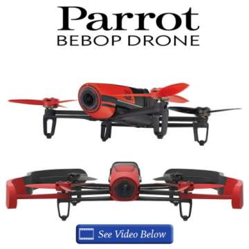 Parrot Bebop Drone W/Simple Flight Control & Onboard Camera W/Full HD VideoRecord & WideAngle Photos