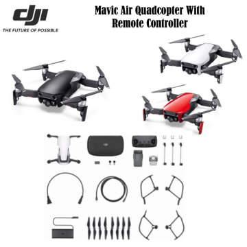 DJI Mavic Air Quadcopter With Remote Controller & Accessories
