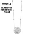 Fine Jewelry - Effy Bouquet 14K White Gold Diamond Cluster Double Halo Pendant Necklace, 0.71 TCW
