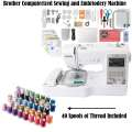 Brother Computerized Sewing and Embriodery Machine Bundle with 40 Spools of Thread