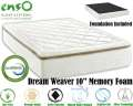 "Dream Weaver 10"" Memory Foam Twin Mattress Plus Foundation; Support Your Body Needs"