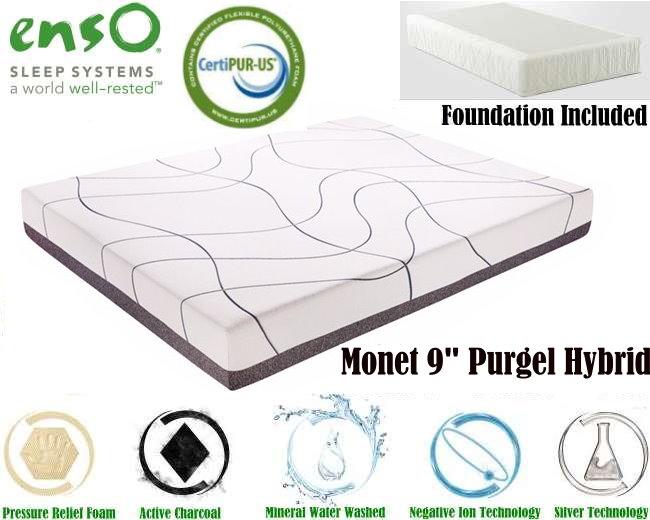 Monet 9 Puregel Hybrid Queen Mattress Plus Foundation Comfort You