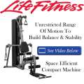 Life Fitness G3 Home Gym With Unrestricted Range Of Motion And Space Efficient