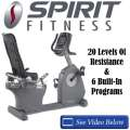 Spirit Fitness Exercise Bike With 20 Resistances, 6 Programs, Swivel Cooling Fan & Integrated Rack