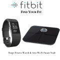 Fitbit Aria Wi-Fi Smart Scale And Surge Fitness Watch-Large, Available In Black