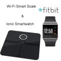 Fitbit Body Fat Monitor Scale And Ionic Smartwatch Fitness Watch In Black Finish