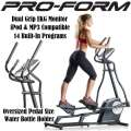 ProForm Elliptical Trainer W/14 Built-In Programs, Dual Grip EKG Monitor & Large LCD Console Display