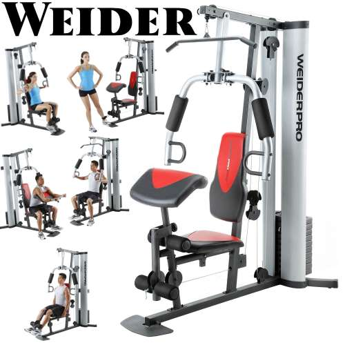 weider pro weight system with 6 separate stations 55 possible rh luthersales com weider home gym systems exercise chart Weider 8530 Home Gym System