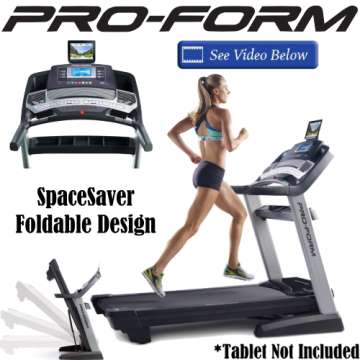ProForm Pro Treadmill With Mach Speed Horsepower, Heart Rate Monitoring & Wireless Chest Strap
