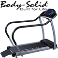 Body-Solid Endurance Cardio Walking Treadmill With Full Length & Padded Hand Rails & Rear Entry Ramp
