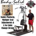 BodySolid Powerline Home Gym W/A Stable Platform, Multiple Seat Adjustments&A No Cable Change Design