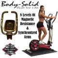 Body-Solid Best Fitness Cross Elliptical Trainer W/8-Magnetic Resistance Levels & Synchronized Arms