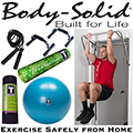 Body-Solid Exercise Safely at Home Fitness Pack with Doorway Chinning Bar, Push-Up Bars & More
