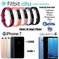 Fitbit Alta HR With Choice Of iPhone 7 Or Galaxy S8 2-Yr Cellular Protection