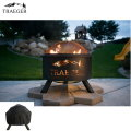 Traeger Outdoor Fire Pit With Black Hydrotuff Fire Pit Cover