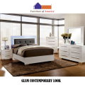 Sleek Metro Modern Design 6PC Bedroom Package Featuring Retro Platform Bed