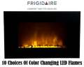 Frigidaire Oslo WallHanging ColorChanging LED Fireplace W/10 Choices Of Color & DualHeating Settings