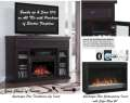 "Espresso 26"" Insert Electric Fireplace & 6-Speakers Soundbar with Subwoofer - Stream from Smartphone"