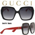 Gucci Women's Oversized Rectangle Acetate Sunglasses-Available In Red/Black