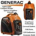 Generac 2200 Watt Portable Generator With 1.2 Gallon Fuel Tank Capacity