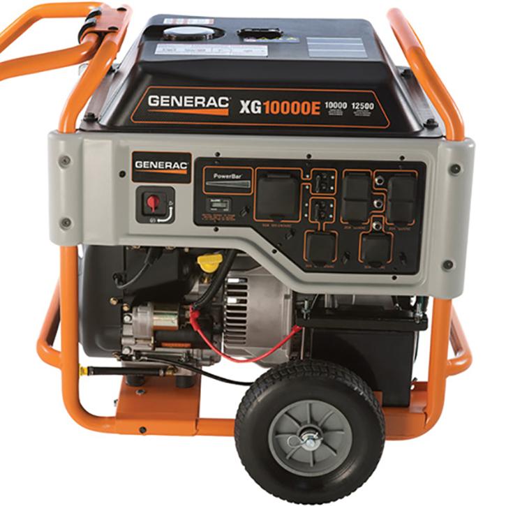 Generac 10,000 Watt Portable Generator With 10 Gallon Fuel