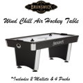 Brunswick Wind Chill Air Hockey Table With 2 Mallets & 4 Pucks