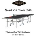 Brunswick SMASH 7.0 Table Tennis Featuring Easy Fold-Up System For Easy Storage