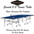 Brunswick Smash 5.0 Tennis Table With Easy Fold-Up System For Easy Storage-Available In Blue