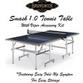 Brunswick Smash 1.0 Table Tennis With Viper Table Tennis Accessory Kit Available In Black