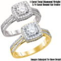 Fine Jewelry-Women's 14K Engagement Ring In White Gold Or Yellow Gold With 1.0 Carat Total Diamonds