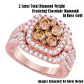 Fine Jewelry-Women's 14K Engagement Ring In Rose Gold With 2.0 Carat Total Diamond Weight