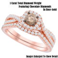 Fine Jewelry-Women's 14K Bridal Ring Set In Rose Gold With 1.0 Carat Total Diamonds