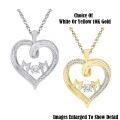 Fine Jewelry-Women's 10K Mom Heart Pendant In Yellow Or White Gold With Diamonds