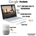 "Google Pixelbook 12.3"" 8GB Intel Core i5 Touchscreen Chromebook With Pixel Pen & Google Home Speaker"