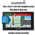 "Garmin DriveAssist 5.0"" GPS Navigation System With Built-In Dash Cam- Available In Black"