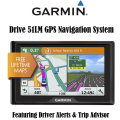 Garmin Drive 51LM GPS Navigation System Featuring Driver Alerts And Trip Advisor- Available In Black