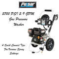 Pulsar 2700 PSI 2.9 GPM Gas Pressure Washer W/ 4 Quick Connect Tips For Various Spray Options