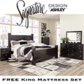 The Ultimate King Bedroom Pkg Featuring 8-PC Bedroom Set & King 15